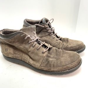 BORN Taupe Suede Ankle Boots Casual Shoes sz 14